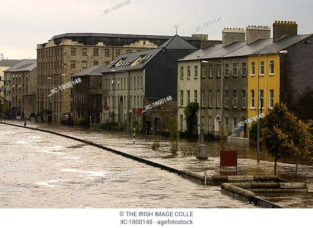 The River Suir in Flood, Clonmel, Co Tipperary, Ireland