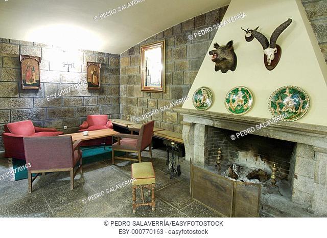 comfortable room in a mountain hotel National Parador, Pineta valley, Pyrenees, Huesca, Aragon, Spain
