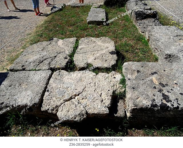 Place were Olympic flame is ignited in Olympia, Greece