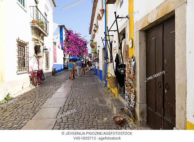 Rua Direita, Castelo de Obidos, Obidos Castle, Obidos, Leiria District, Pinhal Litoral, Portugal