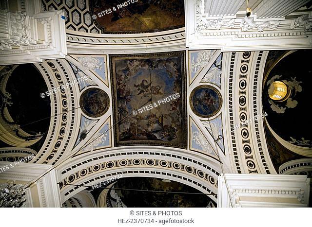 Fresco on the ceiling, Basilica of Our Lady of the Pillar, Zaragoza, Spain, 2007. Catedral-Basilica de Nuestra Senora del Pilar
