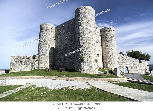 Castle of Santa Ana. Cantabrian village, north Spain