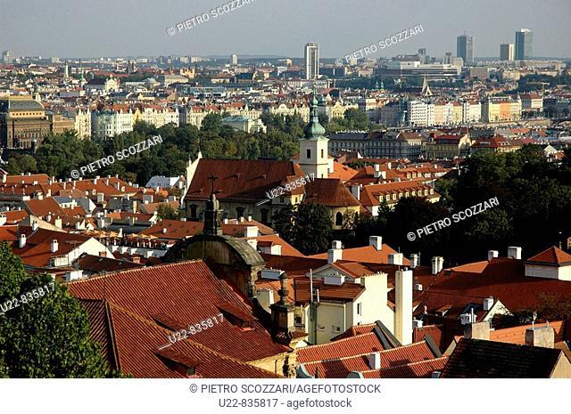Prague Czech Republic, view on Mala Strana and the city