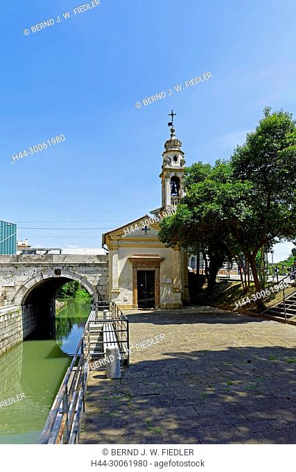 Europe, Italy, Veneto Veneto, Padua, Padova, Porte Contarine, chapel, tower, Porte Contarine, architecture, trees, place of interest, tourism, towers, plants