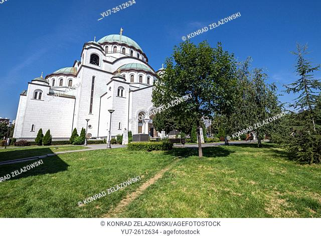 Church of Saint Sava in Vracar plateau, Belgrade, Serbia - one of the largest Orthodox churches in the world