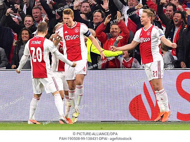 08 May 2019, Netherlands, Amsterdam: Football, Champions League, knockout round, semi-final, return leg Ajax Amsterdam - Tottenham Hotspur