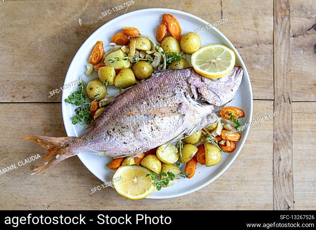 Bream with a fennel medley