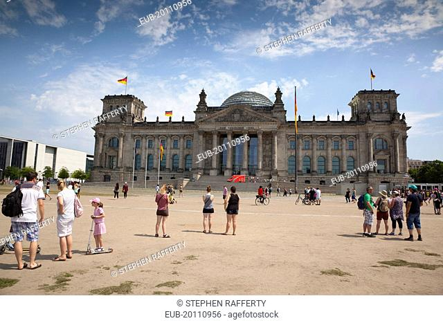 Mitte Reichstag building with glass dome deisgned by Norman Foster