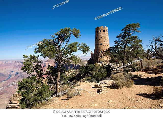 South Rim, Grand Canyon Dersert View Watchtower, Arizona