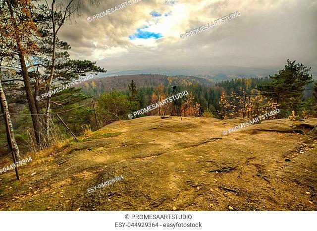 Observation Point Zloty Widok (Golden View). Karkonoski National Park, Szklarska Poreba, Poland