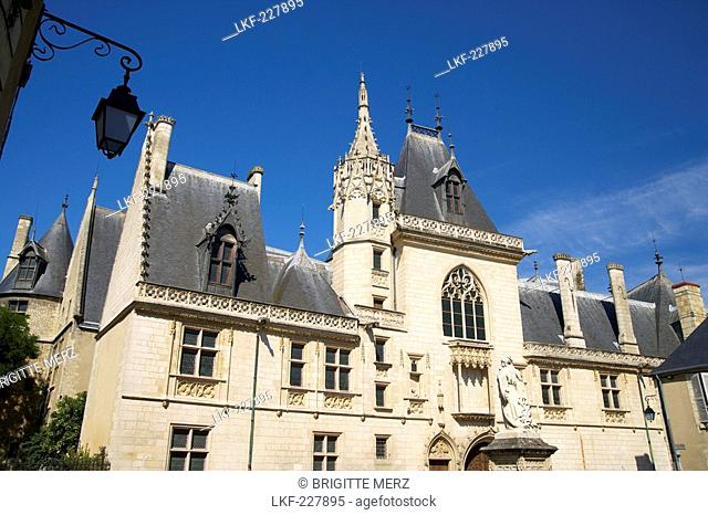 Jacques Coeur Palace in Bourges, Old city of Bourges, The Way of St. James, Chemins de Saint Jacques, Via Lemovicensis, Bourges, Dept