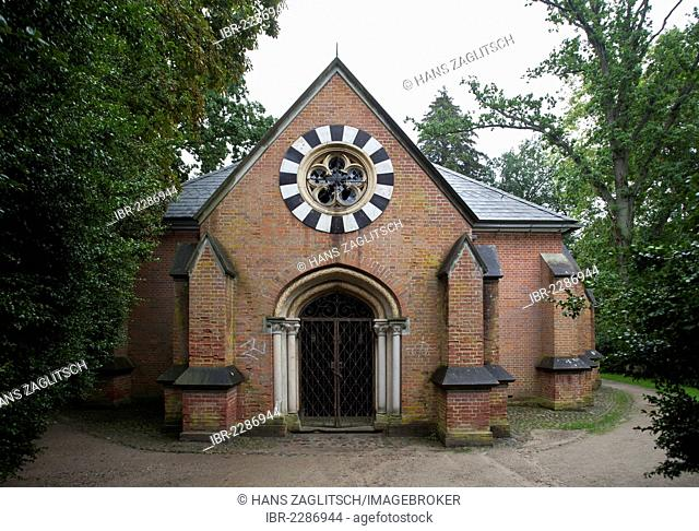Chapel on the castle grounds, Putbus, Ruegen, or Rugia, Mecklenburg-Western Pomerania, Germany, Europe