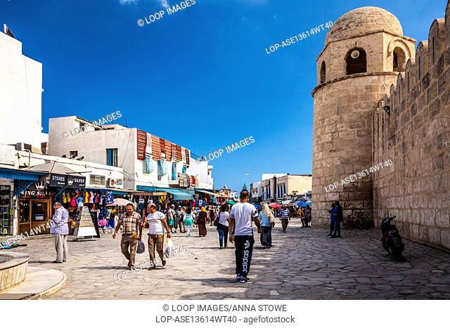 The Place de la Grande Mosque in Sousse in Tunisia