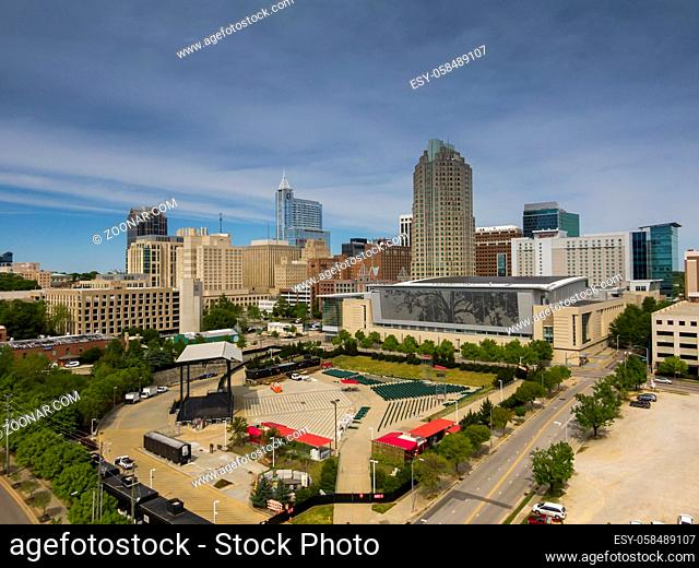 April 23, 2020 - Raleigh, North Carolina, USA: Red Hat Amphitheater, situated in the heart of Downtown Raleigh, offers an immersive entertainment experience...