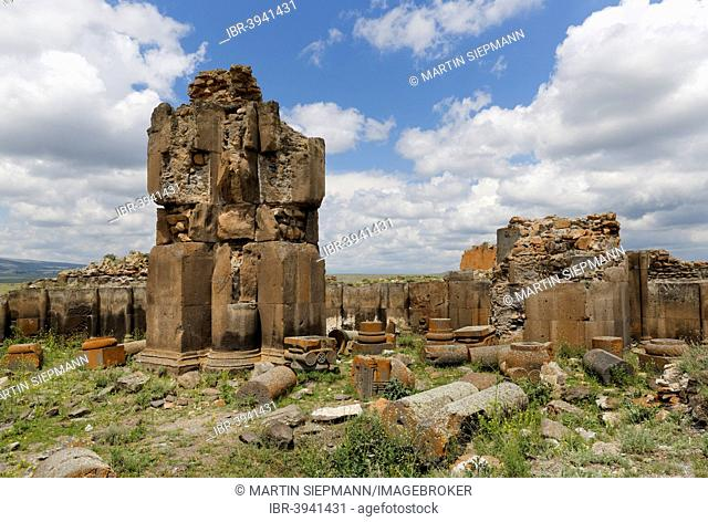 King Gagik's church of St Gregory or Kral Gagik Kilisesi, former Armenian capital Ani, Kars, Silk Route, Eastern Anatolia Region, Anatolia, Turkey