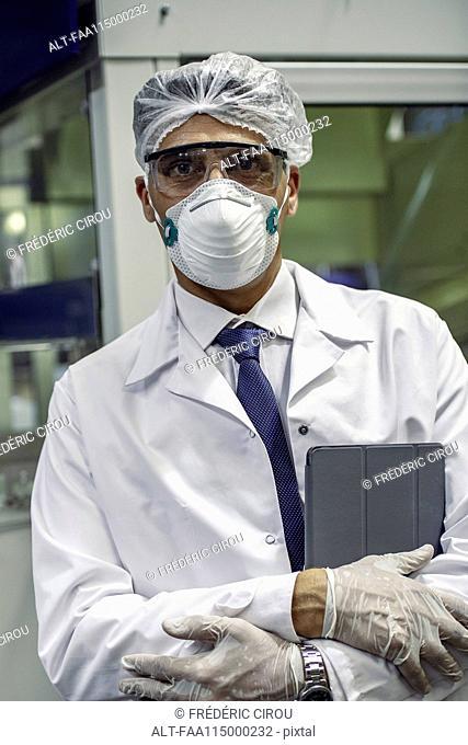Portrait of scientist in laboratory