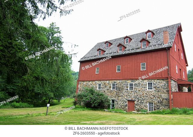 Jerusalem Mill Village Maryland old colonial town museum and Mill big red historical building