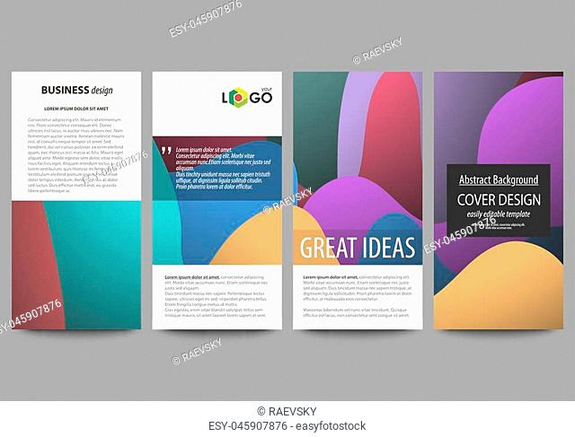 Flyers set, modern banners. Business templates. Cover design template, easy editable abstract flat layouts, vector illustration