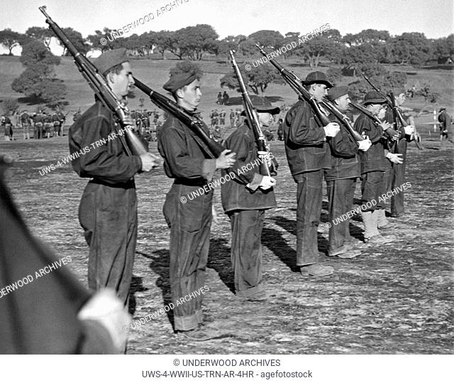 Fort Ord, California: November 19, 1940.Introduction to the manual of arms offered complications and little precision as these volunteers for the U.S