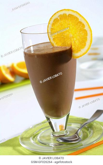Chocolate and orange shake