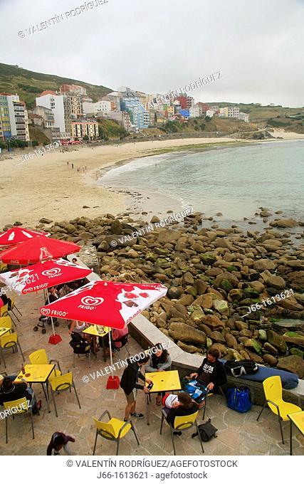 landscape of the beach of Malpica  Coruña