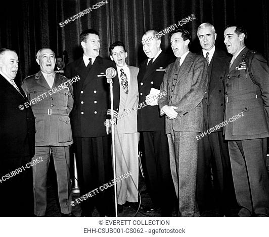 An all star octet entertains visiting editors and publishers at the Banshees' Luncheon. April 25, 1944, Grand Ballroom of the Waldorf Astoria Hotel, NYC