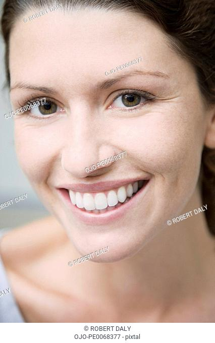 Confident woman smiling