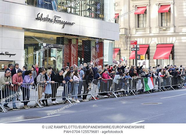 Fifth Avenue, New York, USA, October 15, 2019 - Grand Marshal Massimo Ferragamo Along with Thousands of Peoples Participated the 2019 Columbus Day Parade in New...