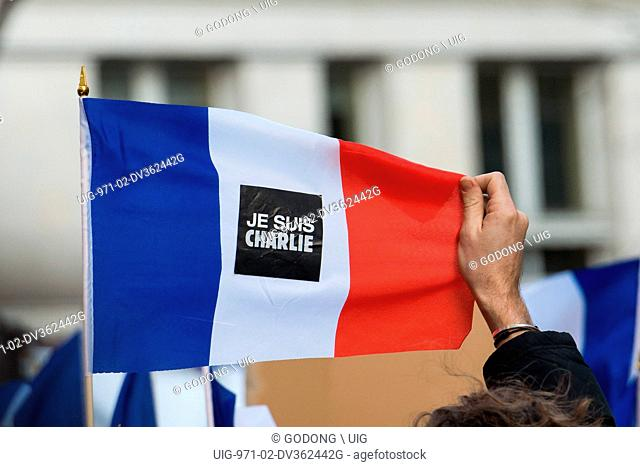 Je suis Charlie' demonstration in Paris after killings by islamists