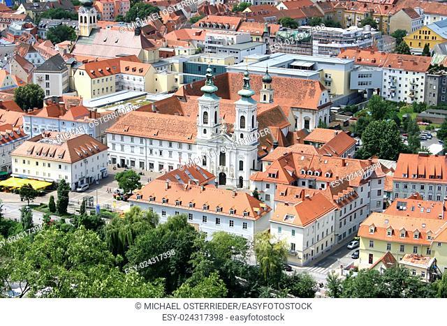 The city of Graz, Austria