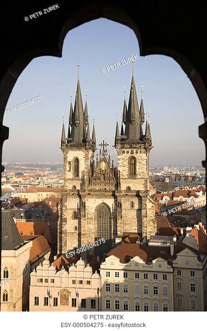 Gothic cathedral in Prague, Church Of Our Lady Before Tyn