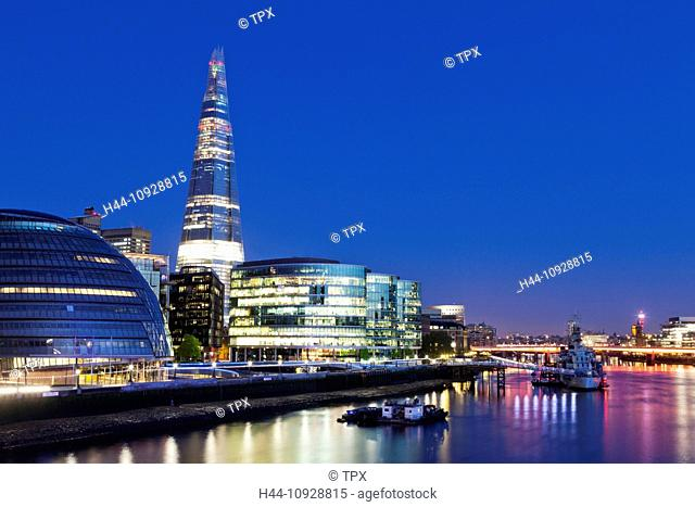 UK, United Kingdom, Great Britain, Britain, England, Europe, London, Southwark, The Shard, Shard, More London, Modern, Architecture, Skyscrapers, Skyline, River