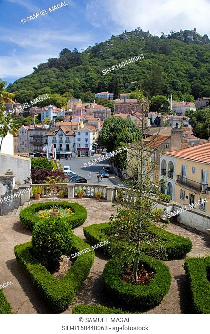 The National Palace of Sintra in Portugal is a multi-storeyed national monument that portrays architectural styles from the 13th to 19th centuries