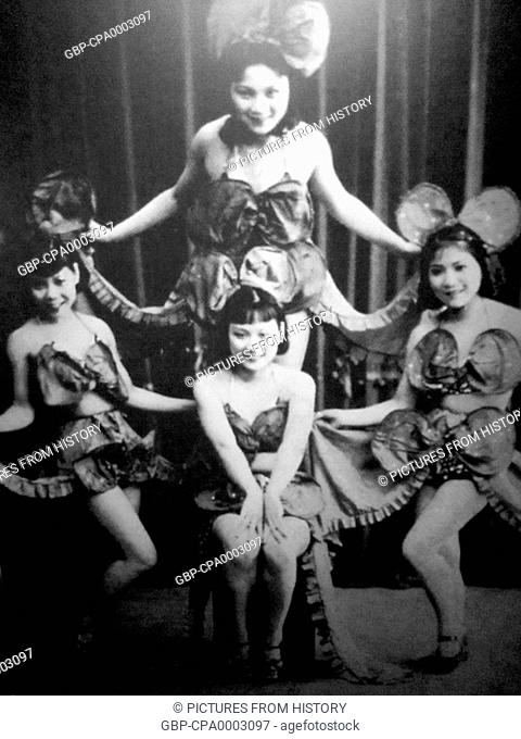 Singapore: Early showgirls, probably c. 1925