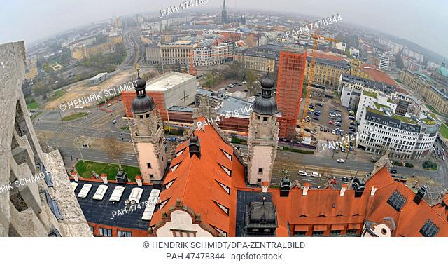 The Provost Church(Prosteikirche) is pictured inLeipzig,Germany, 28 March 2014. Eleven months after the cornerstone laying ceremony