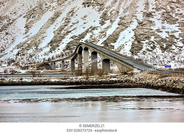 Gimsoystraumen Bridge is a cantilever road bridge that crosses the Gimsoystraumen strait between the islands of Austvagoya and Gimsoya in the municipality of...