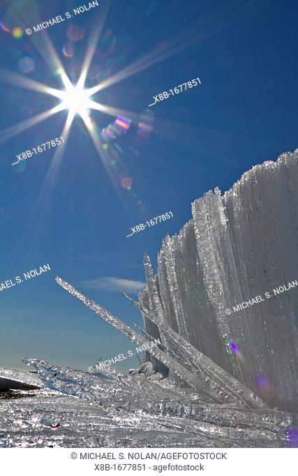 Unusual 'soda straw' ice formation on Edgeoya in the Svalbard Archipelago, Norway