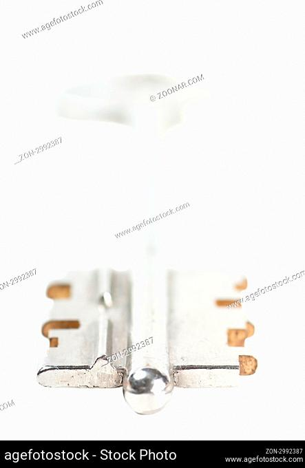 A key isolated over white background