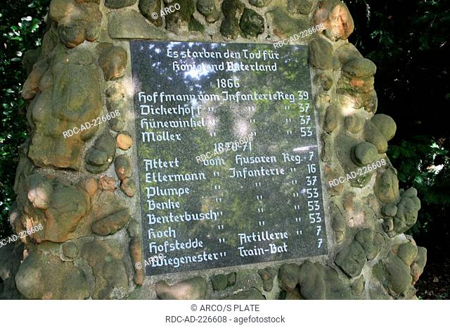 War memorial, at Hermann-Grochtmann-Museum, Datteln, North Rhine-Westphalia, Germany