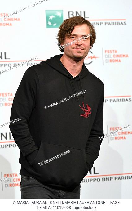 Christopher Backus poses during the photocall for 'Drowing' at the 14th annual Rome Film Festival, in Rome, ITALY-20-10-2019