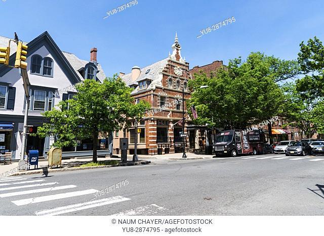 Nassau -main street of Princeton, New Jersey, USA