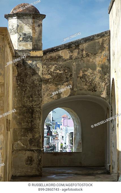 COURTYARD WINDOW CASTILLO SAN CRISTOBAL OLD TOWN SAN JUAN PUERTO RICO