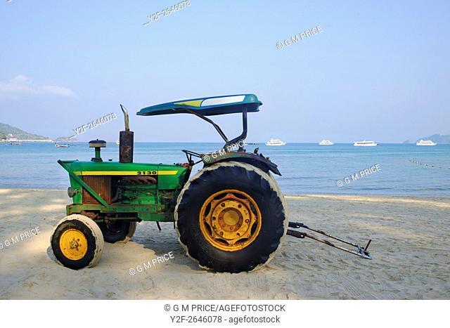 tractor on Patong Beach, Phuket