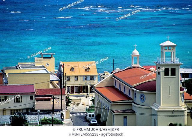 France, Guadeloupe French West Indies, Ile de Marie Galante, Capesterre de Marie Galante, church