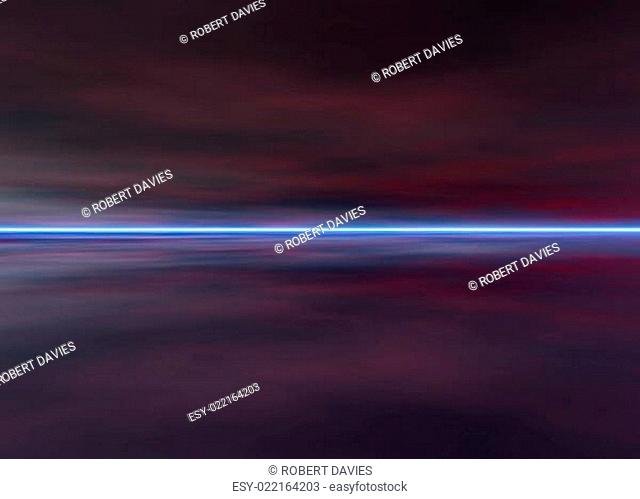 3d Rendered Night Distant Skyscape