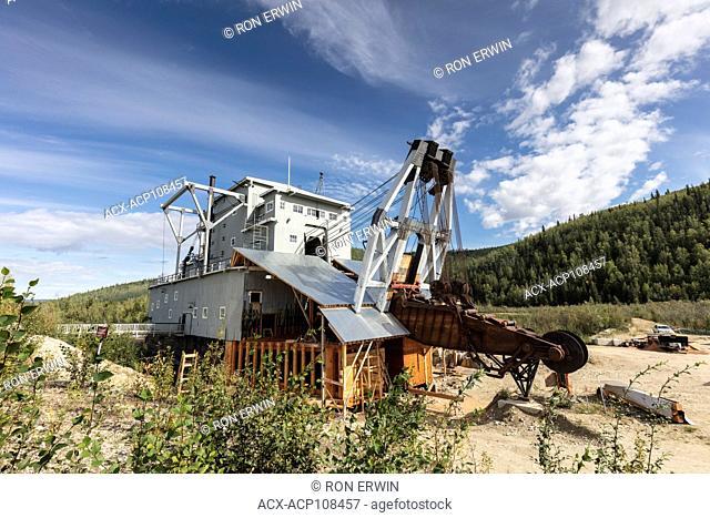 Dredge No 4 on Bonanza Creek a National Historic Site of Canada at Dawson City, Yukon