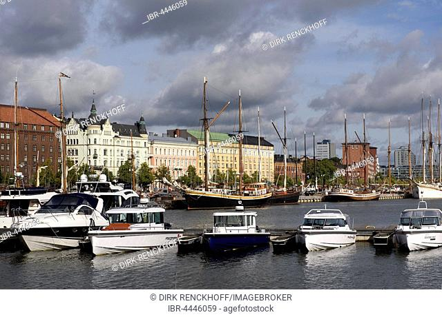 Boats in North Harbor, Helsinki, Finland