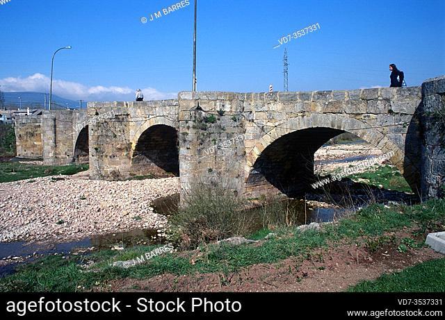 Matamorosa bridge over the Hijar River. Campoo-Los Valles, Cantabria, Spain