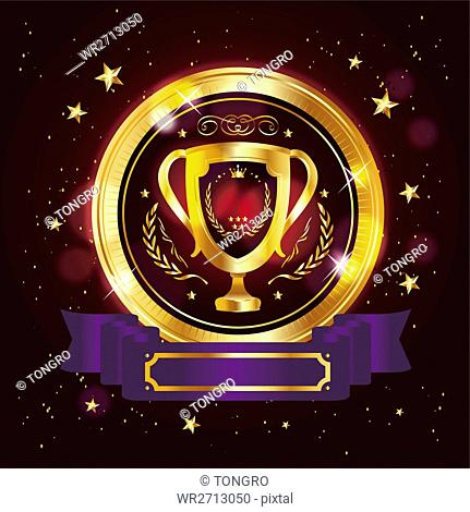 Luxurious gold trophy