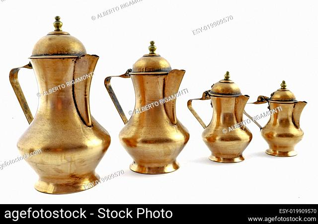 Old fashioned style copper coffeepot